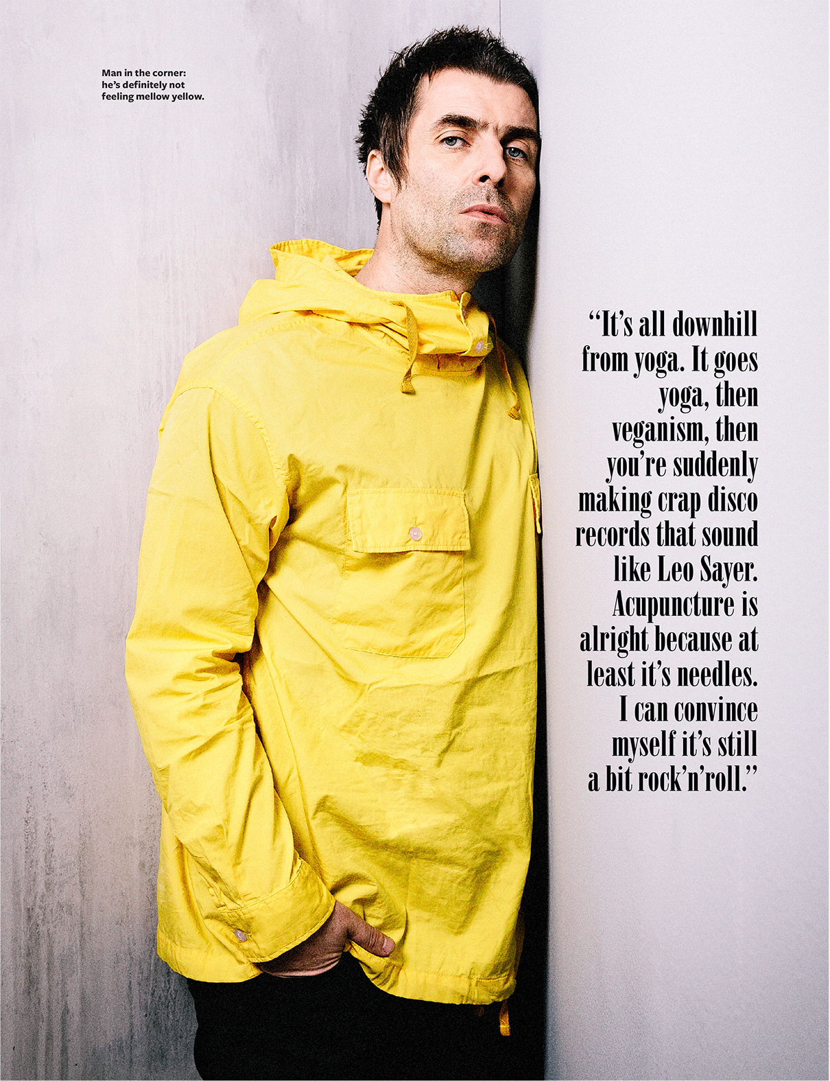 Liam Gallagher Cover and Feature Story for 'Q'